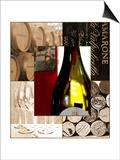 Wine Lover Print by Lisa Wolk