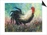 Rise and Shine Rooster Poster by Vickie Wade