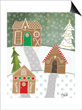 Gingerbread Houses Print by Katie Doucette