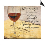 Wine Is the Occasion Prints by Lisa Wolk