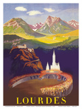 Lourdes, France - Basilica Our Lady of Lourdes Posters by  Pacifica Island Art
