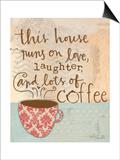 Laughter and Coffee Affiches par Katie Doucette