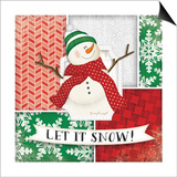 Let it Snow Snowman Posters by Jennifer Pugh
