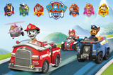 Paw Patrol- Vehicles Poster