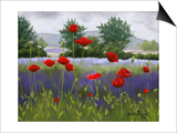 Poppies and Lavender Posters by Julie Peterson