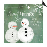 Snowy Tidings Posters by Katie Doucette