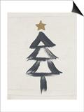 Black and Gold Tree II Prints by Linda Woods