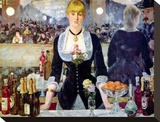 A Bar at the Folies-Bergere Stretched Canvas Print by Edouard Manet