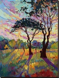 California Sky (bottom left) Stretched Canvas Print by Erin Hanson