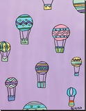 Balloons - Purple Stretched Canvas Print by Brian Nash