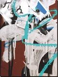 Aqua Tag 2 Stretched Canvas Print by Jenny Kraft