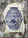 Blue Ginger Jar Stretched Canvas Print by Annabel Hewitt