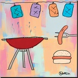 BBQ! Stretched Canvas Print by Brian Nash