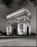 Arc de Triomphe Stretched Canvas Print by Chris Bliss