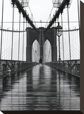 Brooklyn Bridge Stretched Canvas Print by Chris Bliss