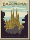 Barcelona, Spain Impressão em tela esticada por  Anderson Design Group