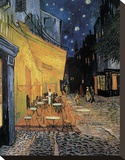 Cafe Terrace at Night Lærredstryk på blindramme af Vincent van Gogh