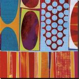 Rex Ray - Carnivale (detail) Reprodukce na plátně