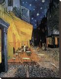 Cafe Terrace at Night Lærredstryk på blindramme af Vincent van Gogh