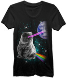 Laser Eyes Space Cat T-shirts