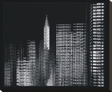 Chrysler Building Motion Landscape 3 Stretched Canvas Print by Len Prince