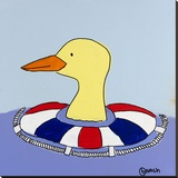 Duck Stretched Canvas Print by Brian Nash