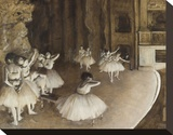 Dance Rehearsal, 1874 Stretched Canvas Print by Edgar Degas