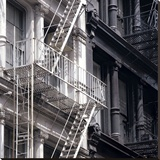 Fire Escape Stretched Canvas Print by  Metro Series