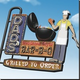 Dad's Southern Style Bar-B-Q Stretched Canvas Print by Anthony Ross