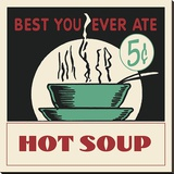 Hot Soup Stretched Canvas Print by  Retro Series