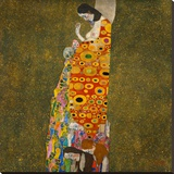 Hope II Stretched Canvas Print by Gustav Klimt