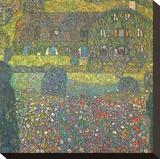 House in Attersee Impressão em tela esticada por Gustav Klimt