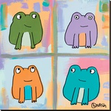 Frogs Stretched Canvas Print by Brian Nash