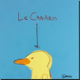 Le Canard Stretched Canvas Print by Brian Nash