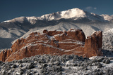 Pike's Peak and the Gardern of the Gods Photographic Print by  bcoulter