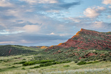 Red Mountain Open Space in Northern Colorado near Fort Collins, Summer Scenery at Sunset Photographic Print by  PixelsAway