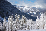 Ski Area from a Mountain Pass Photographic Print by  budanatr
