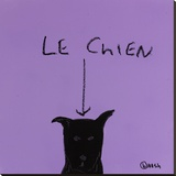 Le Chien Stretched Canvas Print by Brian Nash