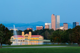 Skyline of Denver at Dawn Photographic Print by  BackyardProductions