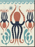 Octopus Garden Stretched Canvas Print by Tracy Walker