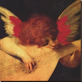 Musical Angel Stretched Canvas Print by Rosso Fiorentino