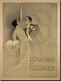 Rena May Et Gerardy Stretched Canvas Print by  Vintage Posters