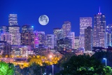 Denver Colorado at Night Reproduction photographique par  duallogic