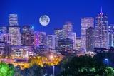 Denver Colorado at Night Fotografisk tryk af  duallogic