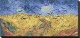 Wheatfield with Crows, 1890 Stretched Canvas Print by Vincent van Gogh