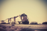Freight Train Traveling through Arizona Desert Photographic Print by  BCFC