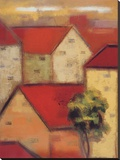 Rooftops II Stretched Canvas Print by Eric Balint
