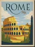 Rome, Italy Stretched Canvas Print by  Anderson Design Group