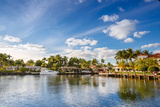 Expensive Yacht and Homes in Fort Lauderdale Photographic Print by  Levranii