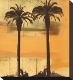 Shoreline Sunset Stretched Canvas Print by Karl Rattner